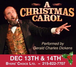 Follow Gerald Charles Dickens on a magical journey through Christmas past, present, and future as he brings his great-great grandfather's story to life, taking the part of twenty-six different characters in turn including Scrooge, Mrs. Cratchit and Tiny Tim! Mr. Dickens' one-man stage performance is unforgettable, as he enacts the Christmas classic with humor and humanity. Not recommended for children under the age of eight. Doors open 30 minutes prior to showtime. Seating is general admission; performance is approximately 75 minutes. Early Buy Ticket Price (expires 9/30/18): $20 each. Regular Ticket Price: $22.50 each.