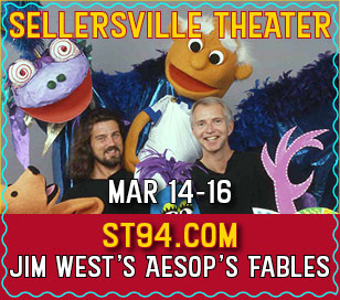 Aesop's delightful fables of wit and wisdom, including The Stag at the Pool, The Tortoise and the Hare, The Fox and the Grapes, The Wind and the Sun and The Lion and the Mouse come to life through the large and colorful puppets of nationally acclaimed puppeteer and storyteller Jim West. We also meet Aesop himself, in his Greek toga, with his dog Moral by his side. Other beloved characters, ingeniously created from paper bags, newspaper and cardboard boxes, make their appearance to the enchanting music of Scarlatti, Beethoven, Rossini and Chopin, inspiring the child in all of us. Originator Jim West graduated with a degree in drama and continued his studies in New York's Herbert Berghof Studio and Parsons School of Design. He developed and performed the shadow puppets for the Metropolitan Opera, appeared on Mister Rogers' Neighborhood and worked with award winning puppeteer Marshall Izen. His friendly and thought-provoking inspirations carry on!