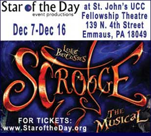 SCROOGE: THE MUSICAL in McCoole's Arts & Events Place